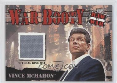 2001 Fleer WWF Raw is War - War Booty Ring Mat Memorabilia #N/A - Vince McMahon
