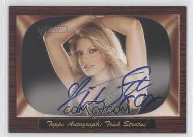 2005 Topps Heritage WWE 1955 Bowman Style Autographs #N/A - Trish Stratus