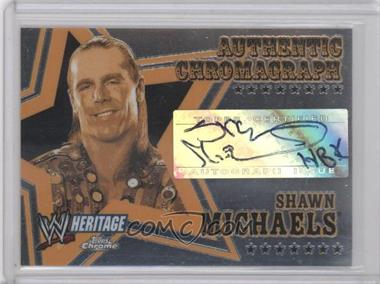 2006 Topps Chrome WWE Heritage Authentic Chromograph #N/A - Shawn Michaels