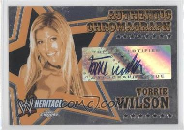 2006 Topps Chrome WWE Heritage Authentic Chromograph #TOWI - Torrie Wilson