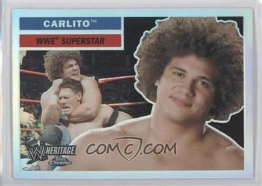 2006 Topps Chrome WWE Heritage Refractor #3 - Carlito