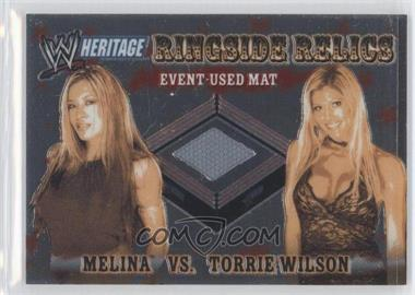 2006 Topps Chrome WWE Heritage Ringside Relics #N/A - Melina, Torrie Wilson