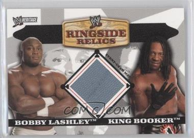 2006 Topps Heritage II WWE Ringside Relics Mats #BLKB - Bobby Lashley, King Booker