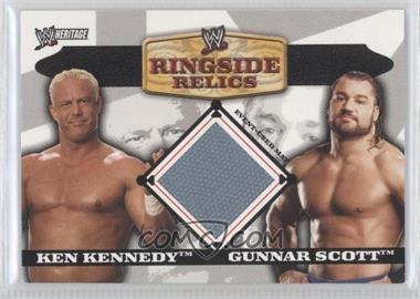 2006 Topps Heritage II WWE Ringside Relics Mats #NoN - Ken Kennedy, Gunnar Scott