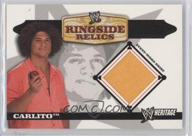 2006 Topps Heritage II WWE Ringside Relics #N/A - Carlito