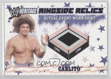 2007 Topps Heritage III WWE - Ringside Relics #NoN - Carlito