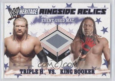 2007 Topps Heritage III WWE - Ringside Relics #NoN - Triple H, King Booker