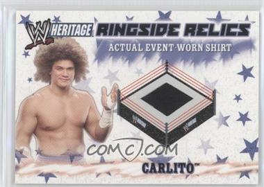 2007 Topps Heritage III WWE Ringside Relics #NoN - Carlito