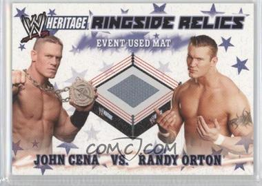2007 Topps Heritage III WWE Ringside Relics #NoN - John Cena, Randy Orton