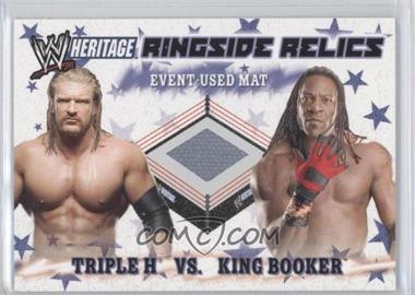 2007 Topps Heritage III WWE Ringside Relics #NoN - Triple H, King Booker
