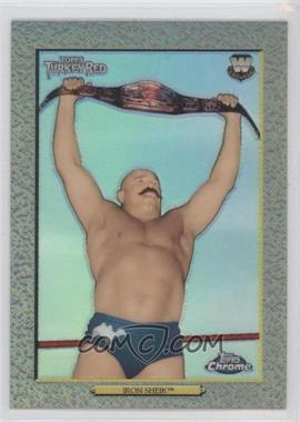 2007 Topps Heritage WWE Chrome Heritage II Refractor #96 - Iron Sheik