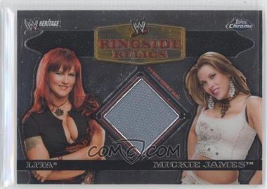 2007 Topps Heritage WWE Chrome Heritage II Ringside Relics #N/A - Lita, Mickie James