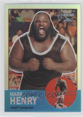 2007 Topps Heritage WWE Chrome II Refractor #15 - Mark Henry