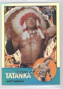 2007 Topps Heritage WWE Chrome II Refractor #4 - Tatanka