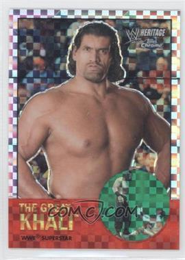2007 Topps Heritage WWE Chrome II X-Fractor #7 - The Great Khali