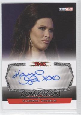 2008 TRISTAR TNA Wrestling Cross the Line - Autographs - Silver #C-2 - Karen Angle