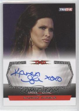 2008 TRISTAR TNA Wrestling Cross the Line - Autographs - Silver #C-KA2 - Karen Angle