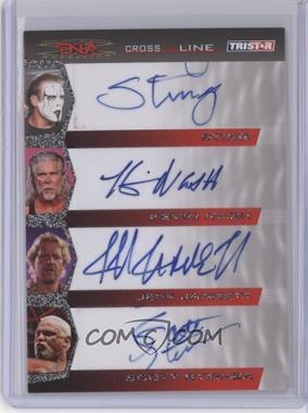 2008 TRISTAR TNA Wrestling Cross the Line - Autographs Quad #C4-2 - Sting, Kevin Nash, Jeff Jarrett, Scott Steiner