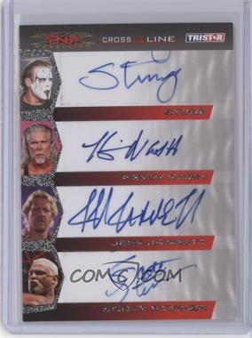 2008 TRISTAR TNA Wrestling Cross the Line Autographs Quad #C4-2 - Sting, Kevin Nash, Jeff Jarrett, Scott Steiner