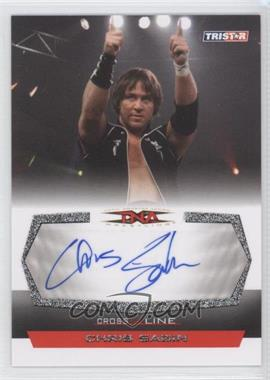 2008 TRISTAR TNA Wrestling Cross the Line Autographs Silver #C-CS - Chris Sabin