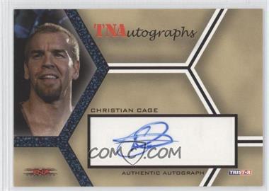 2008 TRISTAR TNA Wrestling Impact! TNAutographs Blue #A-CC - Christian Cage /5
