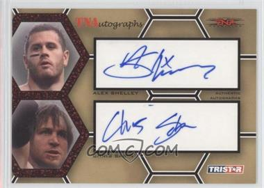 2008 TRISTAR TNA Wrestling Impact! TNAutographs Dual Red #A2-SS - Alex Shelley, Chris Sabin /25