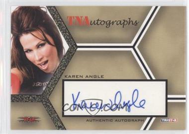 2008 TRISTAR TNA Wrestling Impact! TNAutographs Gold #A-2 - Karen Angle /50