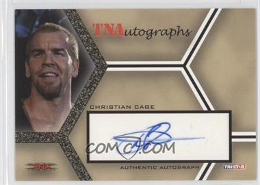 2008 TRISTAR TNA Wrestling Impact! TNAutographs Gold #A-CC - Christian Cage /50