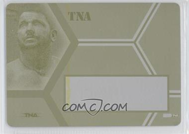 2008 TRISTAR TNA Wrestling Impact! TNAutographs Printing Plate Yellow Non Autographed #A-AJ - AJ Styles /1