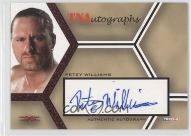 2008 TRISTAR TNA Wrestling Impact! TNAutographs Red #A-PW - Petey Williams /25