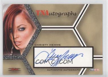 2008 TRISTAR TNA Wrestling Impact! TNAutographs #A-CH - Christy Hemme