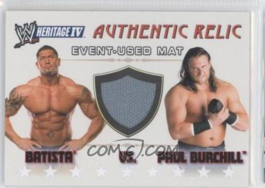 2008 Topps Heritage WWE IV - Authentic Relics #BAPB - Batista, Paul Burchill