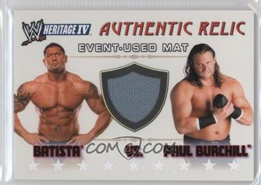 2008 Topps Heritage WWE IV Authentic Relics #BAPB - Batista, Paul Burchill