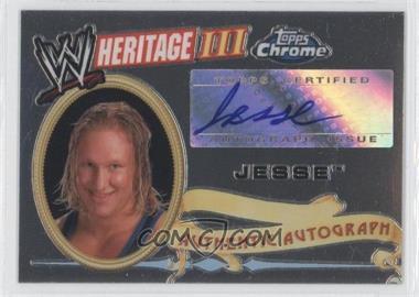 2008 Topps WWE Heritage Chrome Autographs #NoN - Jesse Gymini