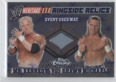 2008 Topps WWE Heritage Chrome Ringside Relics #MKSM - Mr. Kennedy, Shawn Michaels