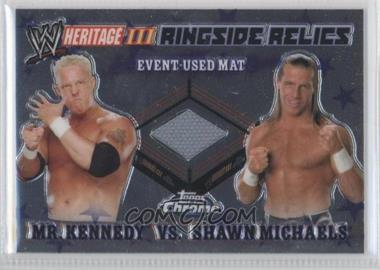 2008 Topps WWE Heritage Chrome Ringside Relics #MKSM - Mr. Kennedy, Shawn Michaels