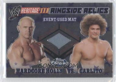 2008 Topps WWE Heritage Chrome Ringside Relics #N/A - Hardcore Holly, Carlito
