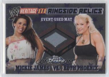 2008 Topps WWE Heritage Chrome Ringside Relics #N/A - Mickie James, Beth Phoenix