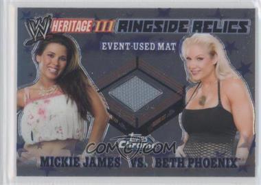 2008 Topps WWE Heritage Chrome Ringside Relics #N/A - Mickie James, Beth Phoenix