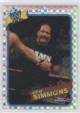 2008 Topps WWE Heritage Chrome X-Fractors #33 - Ron Simmons