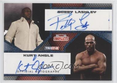 2009 TRISTAR TNA Impact! Autographs Blue #IA-65 - Bobby Lashley, Kurt Angle /25