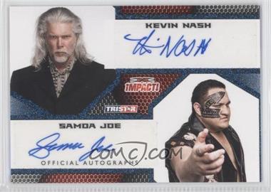 2009 TRISTAR TNA Impact! Autographs Blue #IA-75 - Kevin Nash, Samoa Joe /25
