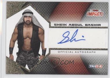 2009 TRISTAR TNA Impact! Autographs Gold #IA-52 - Sheik Abdul Bashir /60