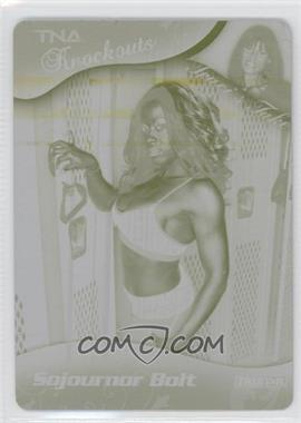 2009 TRISTAR TNA Wrestling Knockouts - [Base] - Printing Plate Yellow #44 - Sojournor Bolt /1