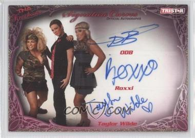 2009 TRISTAR TNA Wrestling Knockouts - Signature Curves - Gold #KA19 - ODB, Roxxi, Taylor Wilde /75