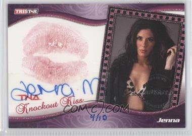 2009 TRISTAR TNA Wrestling Knockouts Knockout Kiss Signatures [Autographed] #K4 - Jenna Morasca /10
