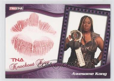 2009 TRISTAR TNA Wrestling Knockouts Knockout Kiss Turquoise #K2 - Awesome Kong /25