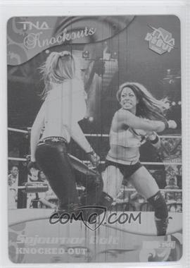 2009 TRISTAR TNA Wrestling Knockouts Printing Plate Black #15 - Sojournor Bolt /1