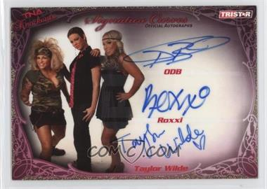 2009 TRISTAR TNA Wrestling Knockouts Signature Curves Gold #KA19 - ODB, Roxxi, Taylor Wilde /75