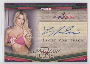 2010 TRISTAR TNA Icons - Sugar & Spice Autographs - Green #SS7 - Lacey Von Erich /25